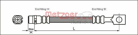 Bremsschläuche METZGER 4112818