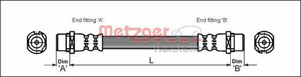 Bremsschläuche METZGER 4112828