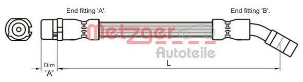 Bremsschläuche METZGER 4112834