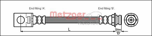 Bremsschlauch METZGER 4113524