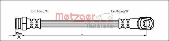 Bremsschlauch METZGER 4114050