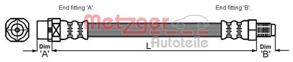 Bremsschlauch METZGER 4114071
