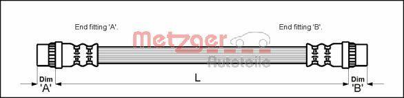 Bremsschlauch METZGER 4114637
