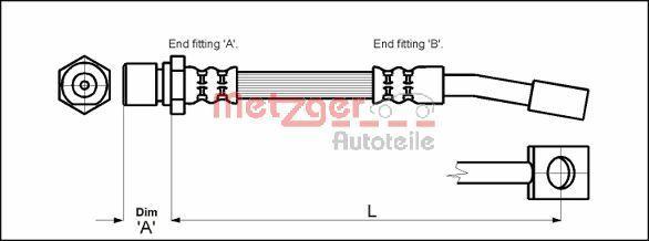 Bremsschläuche METZGER 4114679