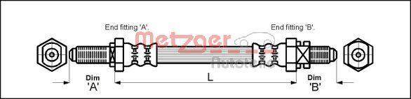 Bremsschläuche METZGER 4114680