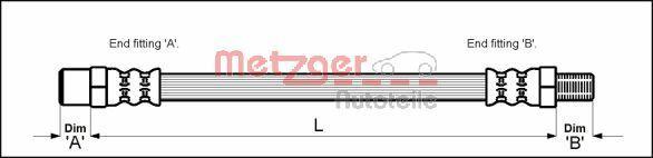 Bremsschlauch METZGER 4114747