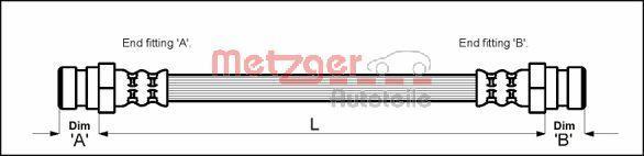 Bremsschläuche METZGER 4114773