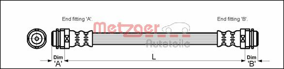 Bremsschläuche METZGER 4114798