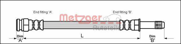 METZGER Bremsschlauch 4114800