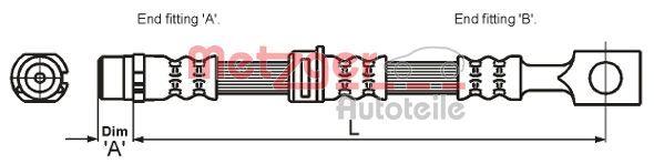 Bremsschlauch METZGER 4115194