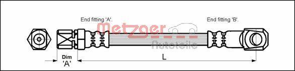 Bremsschlauch METZGER 4117018