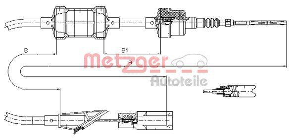OE Original Kupplungszug 412.11 METZGER