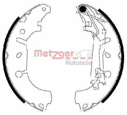 Original OPEL Bremsbeläge für Trommelbremsen MG 201