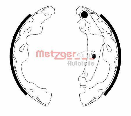 METZGER Bremsbackensatz MG 209