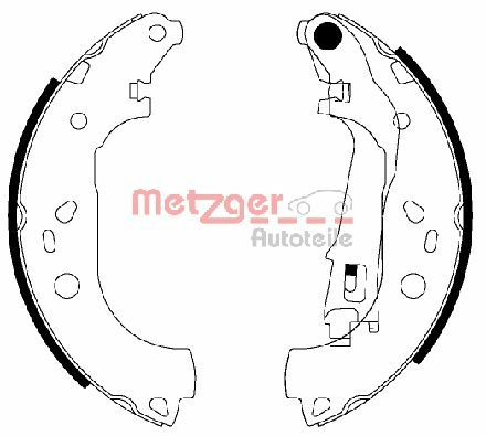 METZGER Bremsbackensatz MG 210