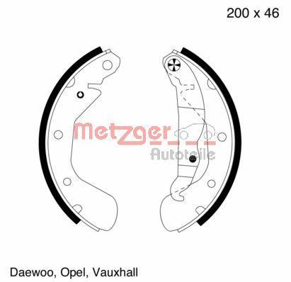 Original OPEL Bremsklötze für Trommelbremse MG 564