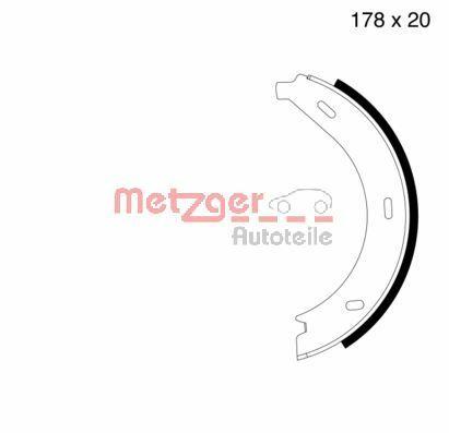 METZGER Bremsbackensatz, Feststellbremse MG 710