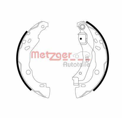 METZGER Bremsbackensatz MG 968