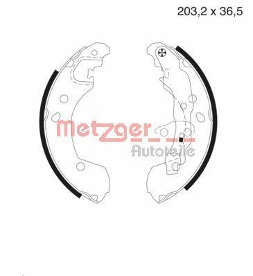 METZGER Bremsbackensatz MG 985
