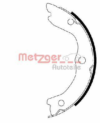 OE Original Bremsbelagsatz Trommelbremse MG 993 METZGER