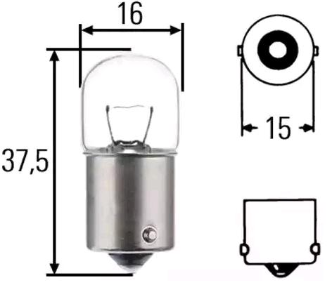 Lampadina luce targa 004627100000 MAGNETI MARELLI — Solo ricambi nuovi
