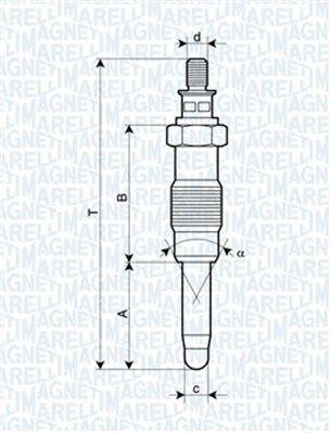 Achetez Bougie de préchauffage diesel MAGNETI MARELLI 062900010304 (Longueur coque: 72,4mm, Filetage: M12X1,25) à un rapport qualité-prix exceptionnel