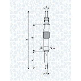 060900120606 MAGNETI MARELLI 5V Länge über Alles: 97mm, Gewindemaß: M10X1 Glühkerze 062900038304 günstig kaufen