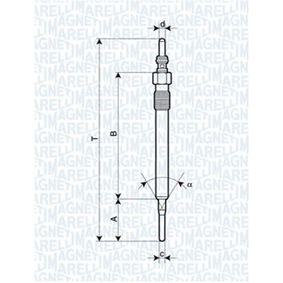 060900620606 MAGNETI MARELLI 4,4V Länge über Alles: 129,4mm, Gewindemaß: M10X1 Glühkerze 062900061304 günstig kaufen