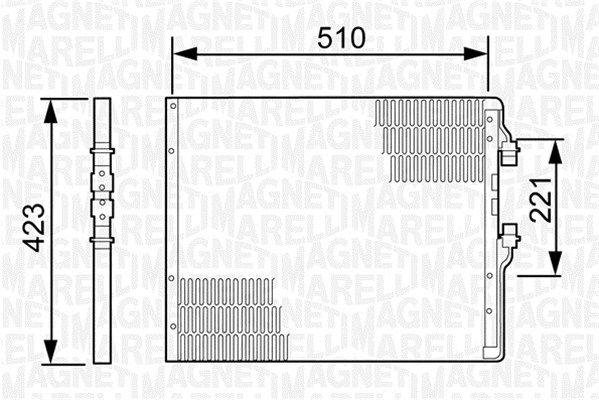 350203499000 MAGNETI MARELLI Kondensor, klimatanläggning: köp dem billigt