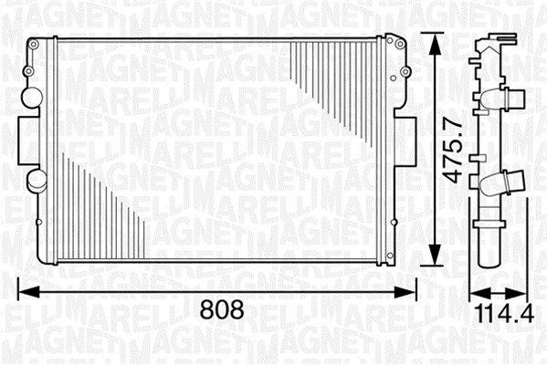 BM1209 MAGNETI MARELLI Kühler, Motorkühlung 350213120900 günstig kaufen