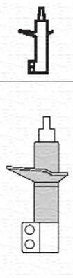 Купете 1459G MAGNETI MARELLI предна ос, газов, двутръбен, макферсън, отгоре щифт Амортисьор 351459070000 евтино