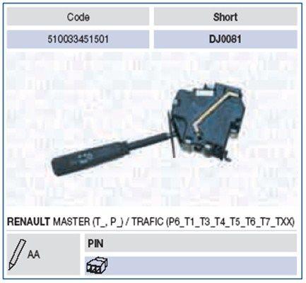 OE Original Kombischalter 510033451501 MAGNETI MARELLI