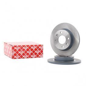 09071 FEBI BILSTEIN Vorderachse, Voll, beschichtet Bremsscheibendicke: 12mm Bremsscheibe 09071 günstig kaufen