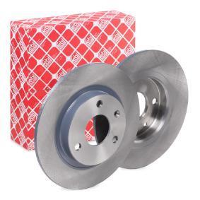 10318 FEBI BILSTEIN Vorderachse, Voll, beschichtet Ø: 238,0mm, Bremsscheibendicke: 8mm Bremsscheibe 10318 günstig kaufen
