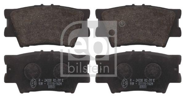 LEXUS HS 2012 Bremsklötze - Original FEBI BILSTEIN 16651 Breite: 49,2mm, Dicke/Stärke 1: 15,5mm