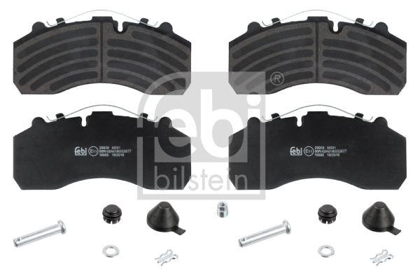 16665 FEBI BILSTEIN Bremsbelagsatz, Scheibenbremse für DAF XF 105 jetzt kaufen