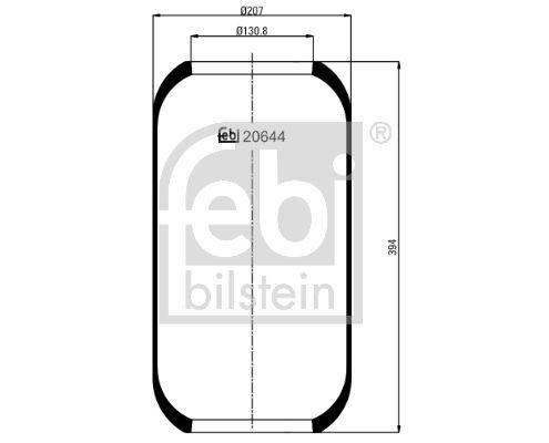 FEBI BILSTEIN: Original Federbalg, Luftfederung 20644 ()