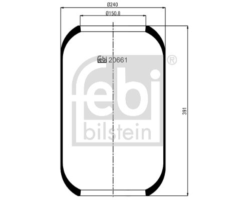 FEBI BILSTEIN: Original Federbalg, Luftfederung 20661 ()