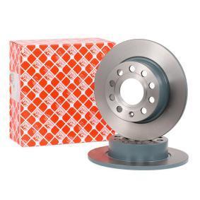 23240 FEBI BILSTEIN Hinterachse, Voll, beschichtet Ø: 255,0mm, Bremsscheibendicke: 10mm Bremsscheibe 23240 günstig kaufen