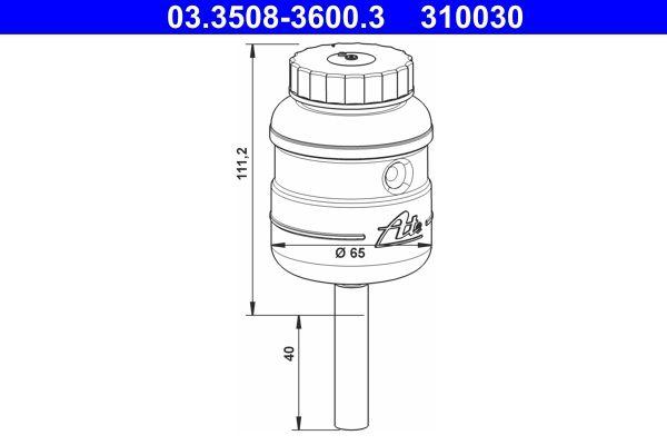 ATE Ausgleichsbehälter, Bremsflüssigkeit passend für MERCEDES-BENZ - Artikelnummer: 03.3508-3600.3