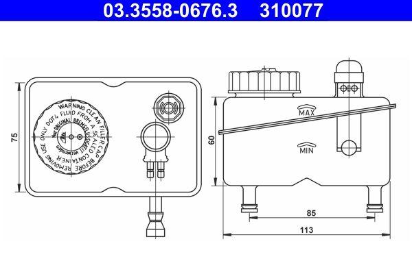 Vaschetta olio freni 03.3558-0676.3 acquista online 24/7