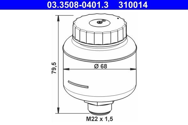 310014 ATE Ausgleichsbehälter, Bremsflüssigkeit 03.3508-0401.3 günstig kaufen