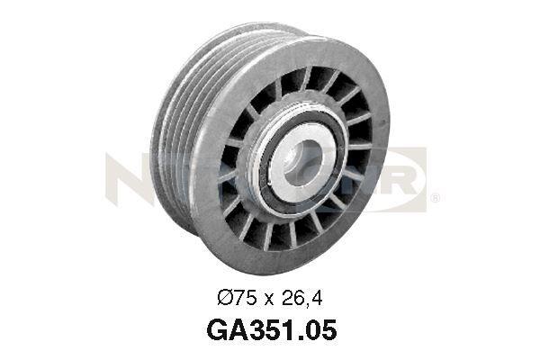 Achat de GA351.05 SNR Ø: 75mm, Largeur 1: 26,4mm Poulie renvoi / transmission, courroie trapézoïdale à nervures GA351.05 pas chères