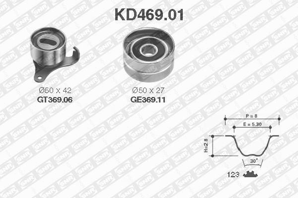 KD469.01 SNR Zähnezahl 1: 123 Zahnriemensatz KD469.01 günstig kaufen