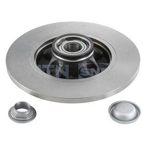 Comprare KF159.60U SNR Non rivestito, con cuscinetto ruota integrato, con anello sensore magnetico integrato N° fori: 4 Disco freno KF159.60U poco costoso