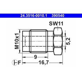 24.3516-0010.1 Kopplingsbult / -skruv ATE - Upplev rabatterade priser