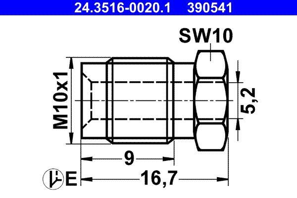 24.3516-0020.1 Kopplingsbult / -skruv ATE - Billiga märkesvaror