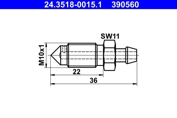 Винт на клапан за обезвъздушаване, 24.3518-0015.1 купете - денонощно!