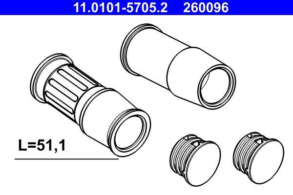 Zestaw tulei prowadzących zacisk hamulca 11.0101-5705.2 kupować online całodobowo