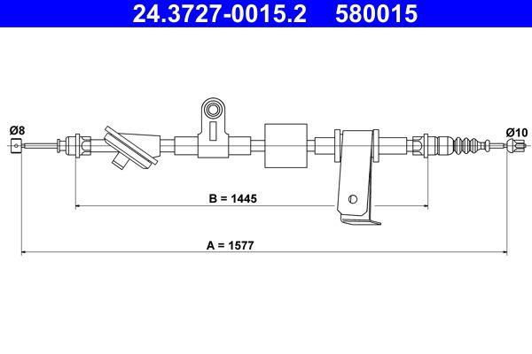 Cięgno, hamulec postojowy ATE 24.3727-0015.2 Recenzji
